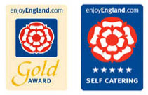 Visit England Gold Award and 5 star self catering