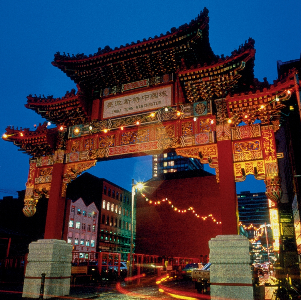 Chinatown in Manchester, England is an ethnic enclave in the city centre. It is the second largest Chinatown in the United Kingdom