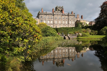 Exterior of Biddulph Grange seen from National Trust Gardens, Staffordshire