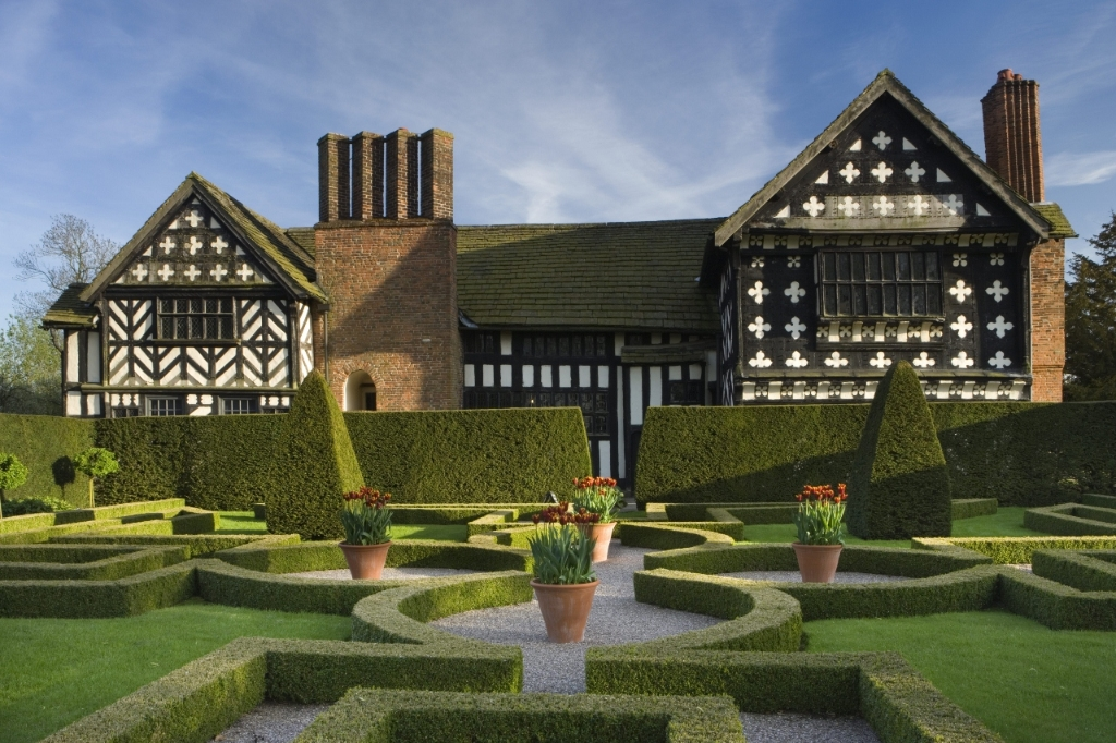 Little Moreton Hall, National Trust stately home in Cheshire