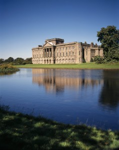 Distant view of the South Front of Lyme Park, Cheshire
