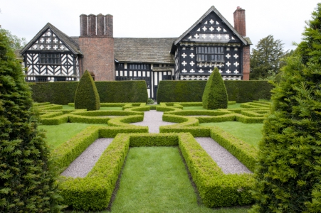 The National Trust's Little Moreton Hall, Cheshire, is an iconic Tudor manor house, moat and manicured knot garden.