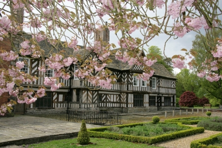 Adlington Hall is a country house in Cheshire, England. The oldest part of the existing building, the Great Hall, was constructed between 1480 and 1505; the east wing was added in 1581.