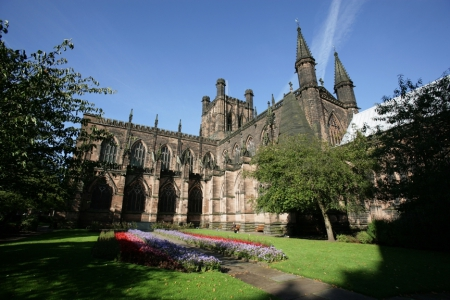 Chester Cathedral, the church of the former Abbey of St Werburgh became a cathedral in 1541.