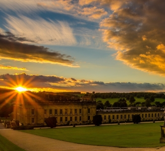 Chatsworth House, a lavish stately home with noted art collection, plus a playground and farmyard in the lush grounds.