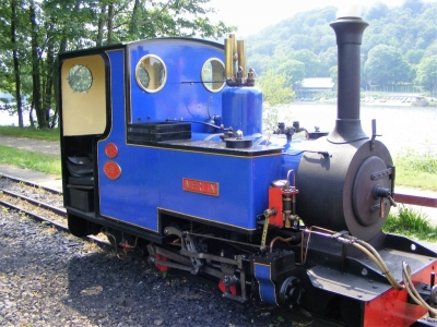 Merlin, Rudyard Lake Steam Railway.  The railway is 10.25in narrow gauge and uses steam engines for its 3 mile return trip.